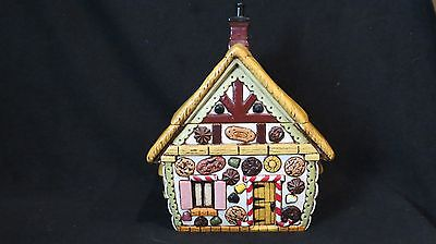 Gingerbread House Vintage Hand-Painted Collectible Cookie Jar