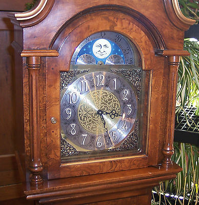 Herschede tall case figured wood bellini 1200 clock 1978 westminster chimes