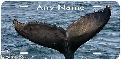 Whale Tail Any Name Personalized Novelty Car License Plate P03
