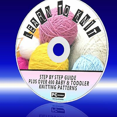 EASY CROCHET PATTERNS ON CD-ROM NEW LEARN TO CROCHET 800 STEP BY STEP GUIDES