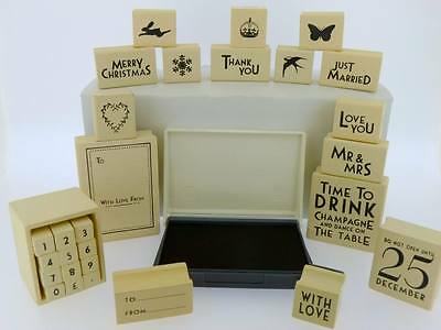 A Range Of East Of India Rubber Stamps Christmas Wedding Favours Card Craft Gift