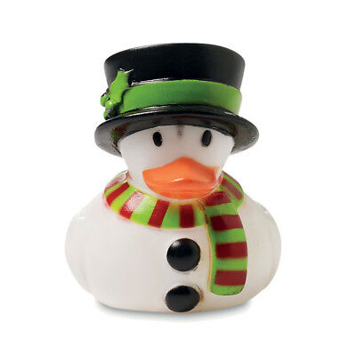 Christmas Plastic RUBBER DUCK - Floating Bath Time Toy for Children - Duck Race