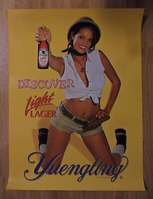 Sexy Girl Beer Poster Yuengling Light Lager ~ Lindsey Vuolo Playboy Playmate