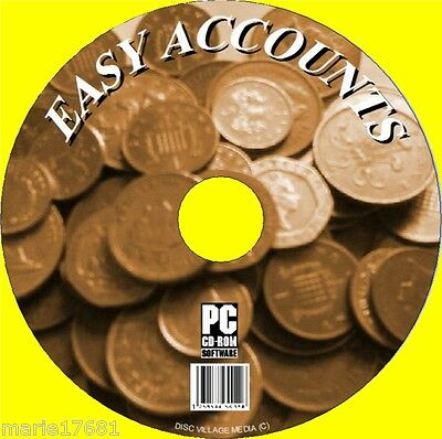 Easy Accounts For Home & Small Business Solutions Cd, Simple To Set Up & Use New