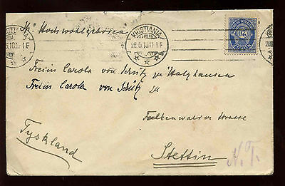 Norway 1911 Cover #C12178
