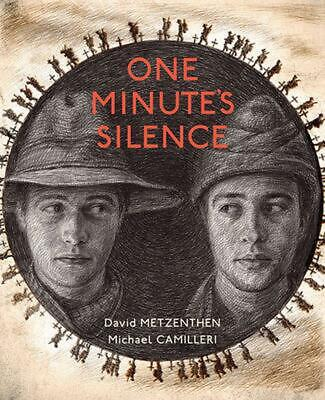 One Minute's Silence by David Metzenthen (English) Hardcover Book Free Shipping!