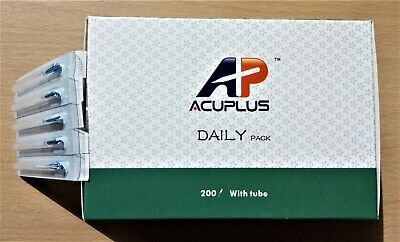 10pks 1000 Acupuncture Needles Super Quality 0.22x25mm with Guide Tube 100/pkt