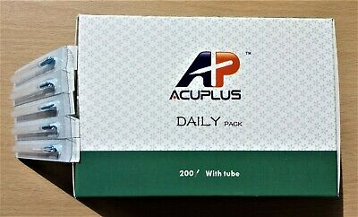 10pks 1000 Acupuncture Needles Super Quality 0.25x25mm with Guide Tube 100/pkt