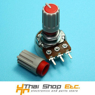 20 x Knob Grey with Red Mark for Potentiometer Pot -HJ106- THAISHOPETC