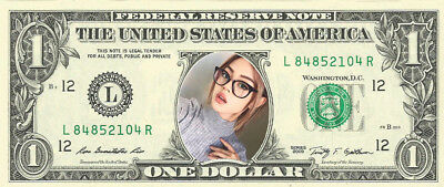 Playful Blonde #5 /Top {Color} Dollar Bill - REAL Money! - Not Just a Novelty