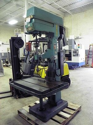 "30"" EDLUND 2F-15 Single Spindle Box Column VS Drill Press"
