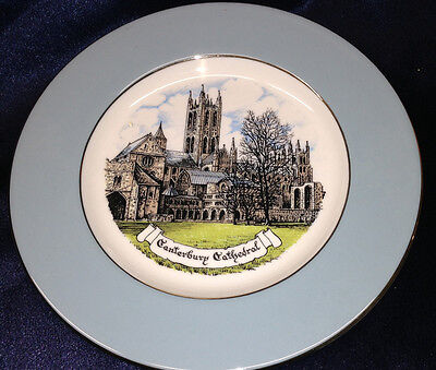 """RELI WASHBOURNE LONDON CANTERBURY CATHEDRAL 7 7/8"""" IN DIAMETER SOUVENIR PLATE"""