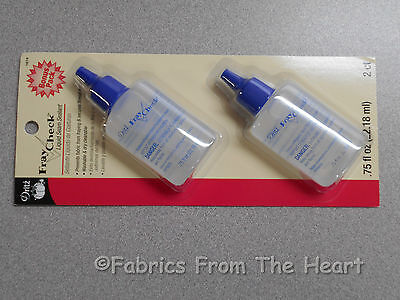 Dritz Fray Check Liquid Glue Seam Sealer 2 Pack for Thread Fabric Sewing Quilts