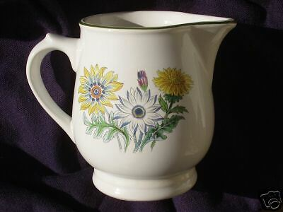 Wade England Creamer Pitcher 3 Daisy Floral Green Trim