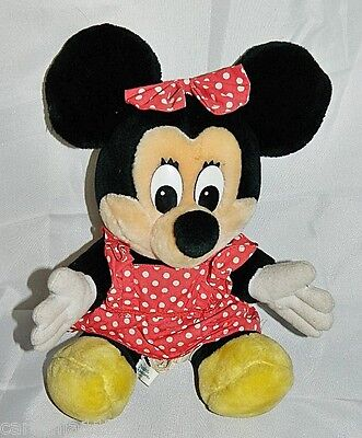 "Disneyland Disney World Minnie Mouse Plush Stuffed Doll 12"" Vintage Animal"
