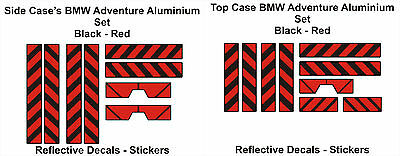 BMW Reflective Sticker Decal R1200GS Aluminium Top Case-Side Cases Panniers Bags