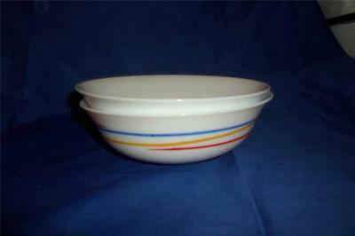 Arcoroc/ Arcopal 2 FIREWORKS PATTERN BOWLS-SOUP/CEREAL-Made in France