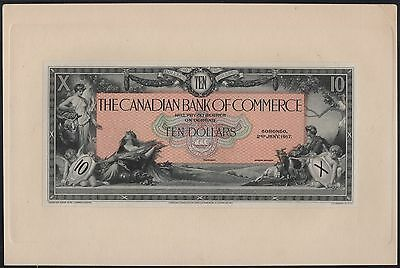 Canada 1917 $10 Canadian Bank Of Commerce Face Proof Hv8148