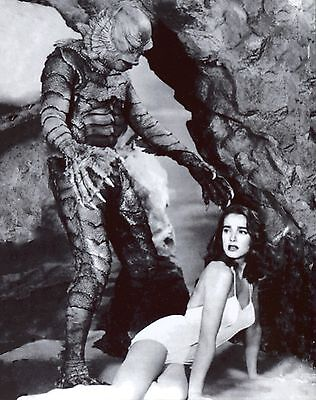 Creature from the Black Lagoon 8x10 glossy Photo. Featuring the creature & Kay