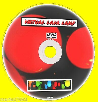 Virtual Lava Lamp On Tv Multi Colour & Sound Effects Sooth & Relaxing Dvd New