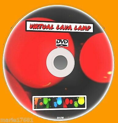 Virtual Lava Lamp On Tv Multi Colour Effects Sooth & Relaxing With Sound Dvd New