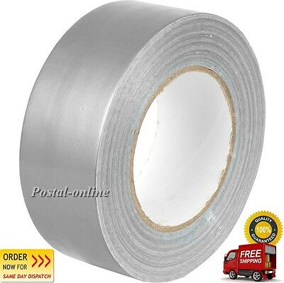 "DUCK Duct Gaffa Gaffer Waterproof Cloth Tape SILVER 48mm 2"" x 50 m strong 1 2 3"