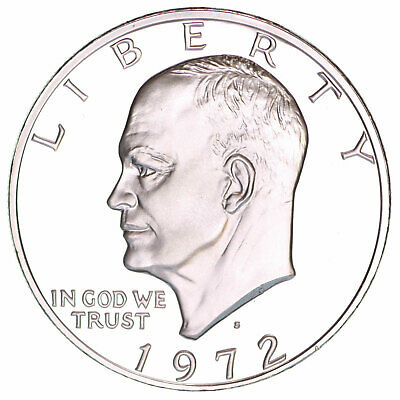 1972 S Proof Eisenhower Ike Dollar 40% Silver US Coin
