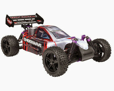 Redcat Racing Shockwave Nitro 1/10 Scale 4x4 RC Buggy Red/Silver New Body!!