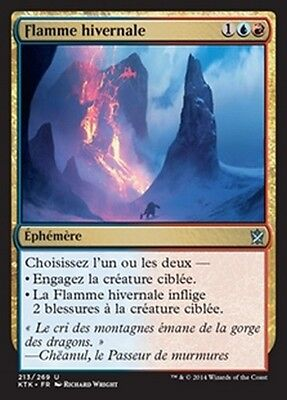 MTG Magic KTK - (4x) Winterflame/Flamme hivernale, French/VF