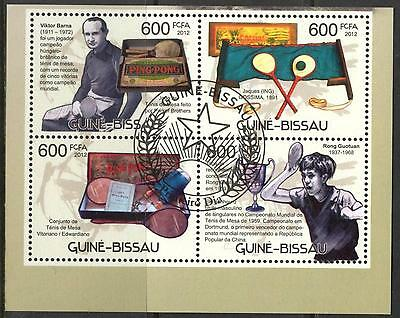 Guinea - Bissau 2012 Sport Table Tennis Ping Pong Sheet x 4 used
