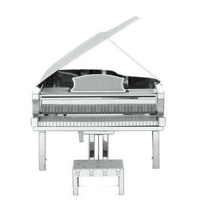 Fascinations Metal Earth 3D Laser Cut Steel Instrument Model Kit Grand Piano