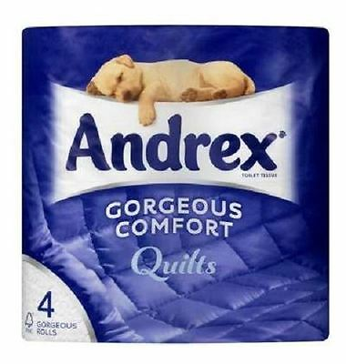 ANDREX TOILET ROLL QUILTS 10x 4rolls
