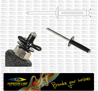 Aluminium Trifold Rivet, Kayak Fitting deck sit on top kayaking angler fittings
