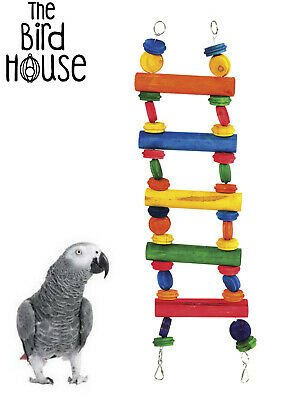 Happypet Multiwood Large Parrot African Grey Amazon Cage Toy Ladder 00751