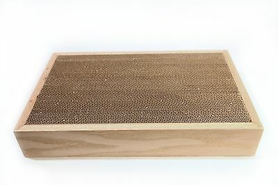 The Original Lifetime Doublesided Cat Scratcher with a wooden frame