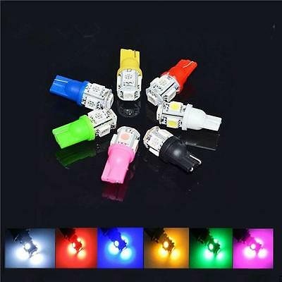 2/10pcs NEW T10 5050 W5W 5 SMD 194 168 LED Car Side Wedge Tail Light Lamp 5color