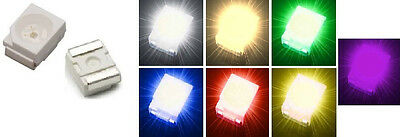 10x Power SMD LED 3528 PLCC-2 Weiß Warmweiß Grün Blau Rot Gelb Ultraviolet UV