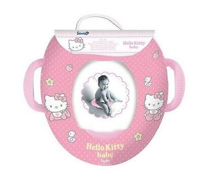 Hello Kitty Kids Soft Padded Potty Toilet Training Seat With Handles