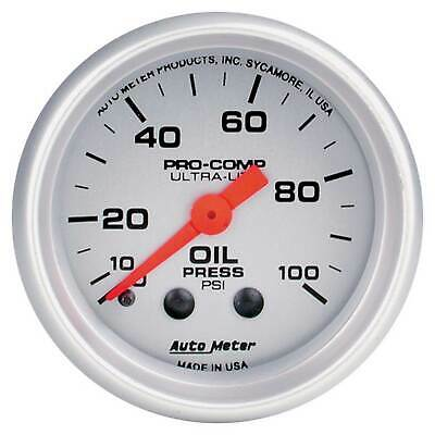 Auto Meter Oil Pressure 52mm Mechanical Pro Comp Ultralite Gauge 0-100PSI