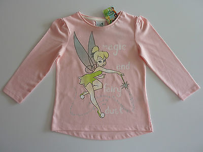 DISNEY Really Cute TINKERBELL Magic and Fairy Dust Pink Long Sleeve Top NWT