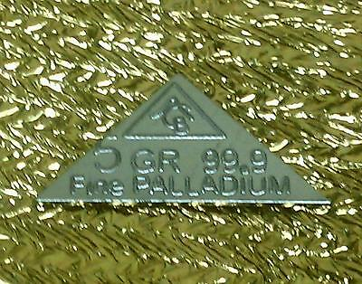 ACB Pyramid 5GRAIN SOLID Palladium BULLION MINTED BAR 99.9  Pure PD VERY RARE