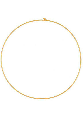 ACROSS THE PUDDLE 24k GP 2mm Omega Chain 17 in Length Necklace