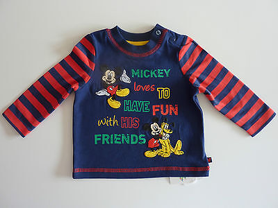 DISNEY Really Cute MICKEY MOUSE Navy Long Sleeve Top NWT