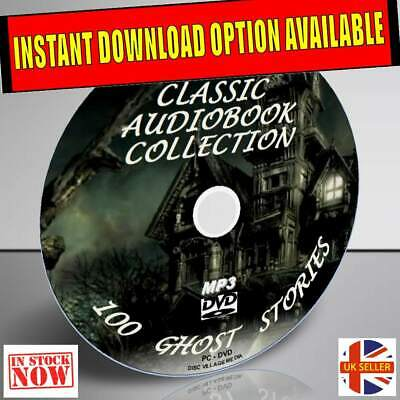 100 Classic Ghost Stories Audio Books Spooks Ghouls Dvd Chiiling Novels & Tales
