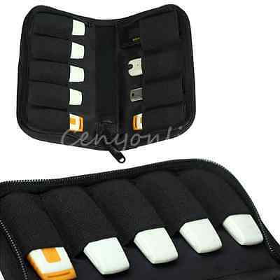 9X USB Flash Drive BUBM Portable Storage Carrying Bag Cable Organizer Case Pouch