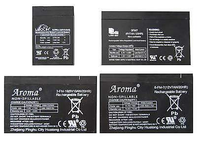 Rechargeable Spare 6V 12V Sealed Lead Acid Battery For Ride On Toy Car