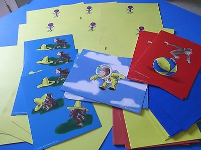 CURIOUS GEORGE unused stationery,cards,envelopes~2004 --super cute!