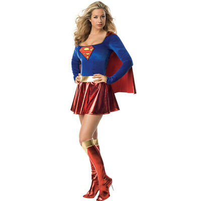 Superwoman Fancy Dress Costume - Womens Supergirl Superman Superhero Hero