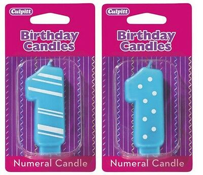 #1 Stripes & Dots Birthday Candles ~ NEW!!! - 13783