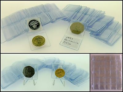 Coin Album 30 Pocket Pages 33 mm Double Wallets 35 mm Single Wallets for 50p